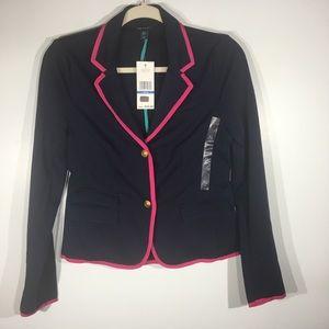 NWT Tommy Hilfiger Navy/Pink Blazer